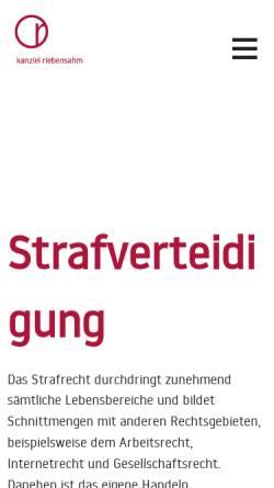 Vorschau der mobilen Webseite www.ra-riebensahm.de, Riebensahm Susanne