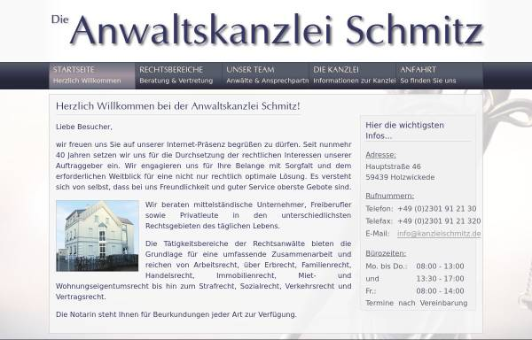 Vorschau von www.kanzleischmitz.de, Schmitz Heinz