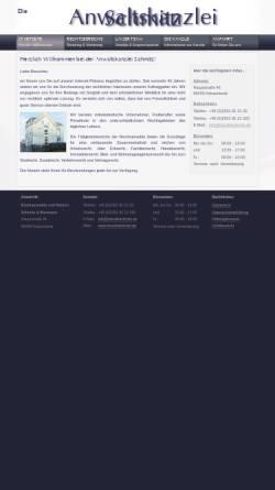 Vorschau der mobilen Webseite www.kanzleischmitz.de, Schmitz Heinz