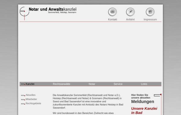 Vorschau von www.anwaltso.de, Sommerfeld, Heisiep, Gosmann