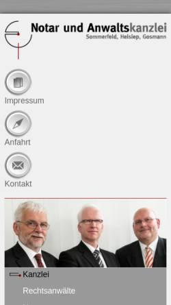Vorschau der mobilen Webseite www.anwaltso.de, Sommerfeld, Heisiep, Gosmann