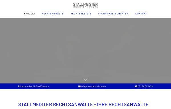 Vorschau von www.rae-stallmeister.de, Stallmeister Rechtsanwälte