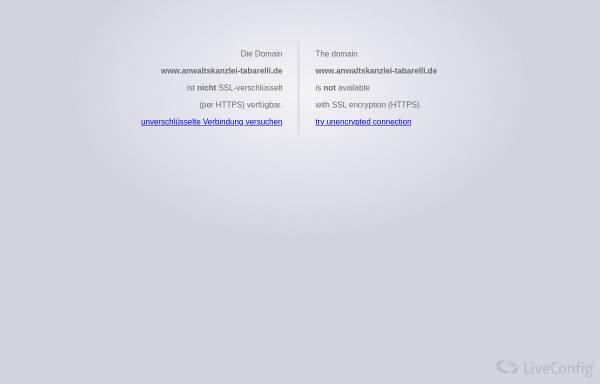 Vorschau von www.anwaltskanzlei-tabarelli.de, Tabarelli und Lohrengel, Anwaltskanzlei