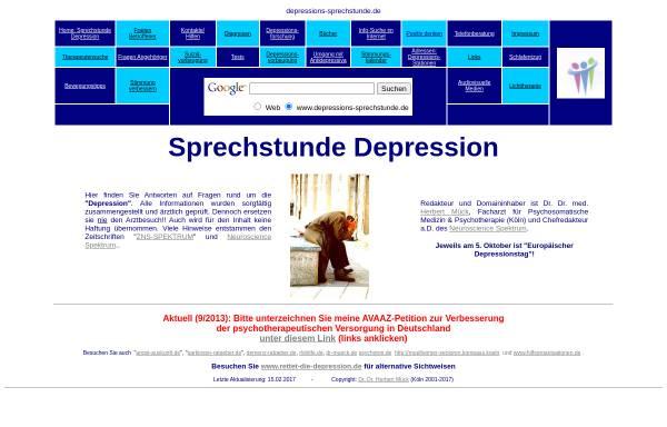 Vorschau von www.depressions-sprechstunde.de, Depressions-Sprechstunde