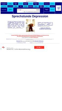 Vorschau der mobilen Webseite www.depressions-sprechstunde.de, Depressions-Sprechstunde