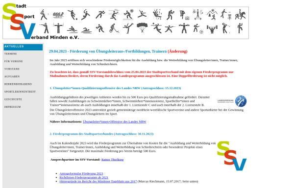 Vorschau von www.stadtsportverband-minden.de, Stadtsportverband Minden e.V.