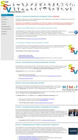 Vorschau der mobilen Webseite www.stadtsportverband-minden.de, Stadtsportverband Minden e.V.
