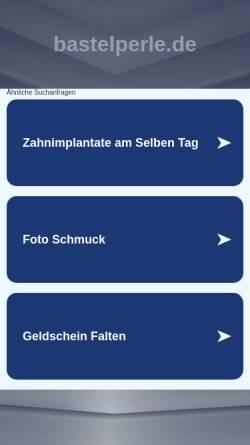 Vorschau der mobilen Webseite www.bastelperle.de, Bastelperle.de