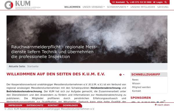 Vorschau von www.kum-heizkostenabrechnung.de, Kooperationsverbund unabhängiger Messdienste e.V.