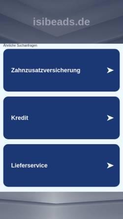 Vorschau der mobilen Webseite www.isibeads.de, Isibeads