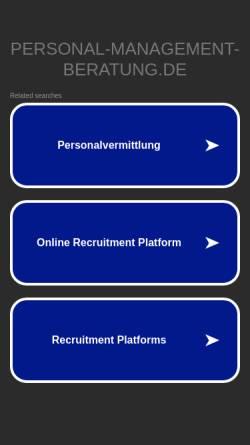 Vorschau der mobilen Webseite www.personal-management-beratung.de, Koallick & Partner GbR