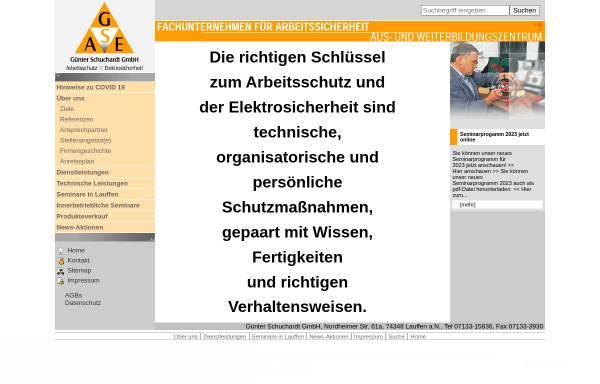 Vorschau von www.schuchardt-gmbh.de, G. Schuchardt GmbH - Fachunternehmen für Arbeitssicherheit