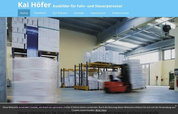 Vorschau von www.staplerfahrer-schulung.de, Kai Höfer
