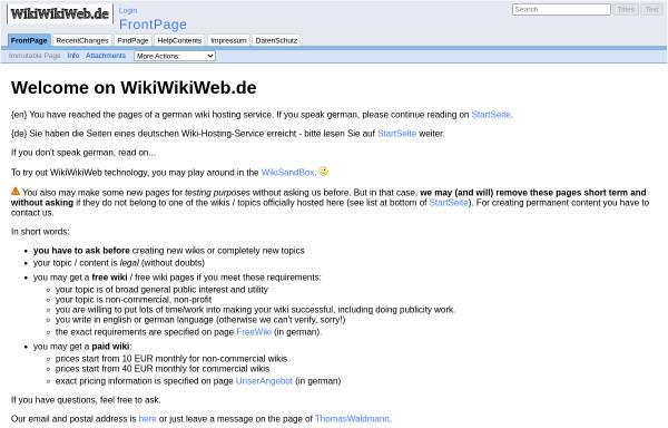 Vorschau von wikiwikiweb.de, Wikiwikiweb.de