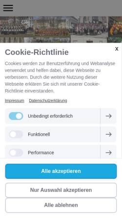 Vorschau der mobilen Webseite www.gugge-ig-basel.ch, Gugge-IG Basel