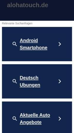 Vorschau der mobilen Webseite alohatouch.de, Aloha Touch - Theresia Rexeisen