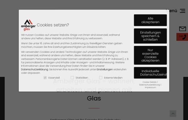 Vorschau von www.amberger-isolierglas.de, Amberger Isolierglas GmbH