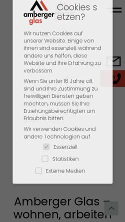 Vorschau der mobilen Webseite www.amberger-isolierglas.de, Amberger Isolierglas GmbH