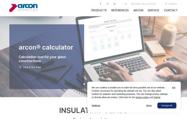 Vorschau von www.arcon-glas.de, Arcon Firmengruppe