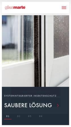 Vorschau der mobilen Webseite glasmarte.at, Glas Marte GmbH