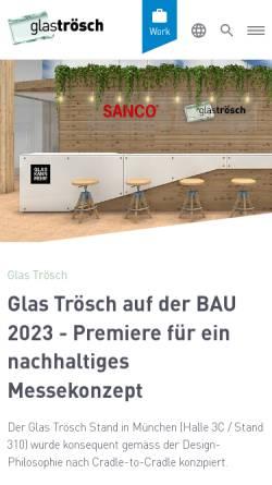 Vorschau der mobilen Webseite www.glastroesch.de, Glas Trösch Beratungs-GmbH