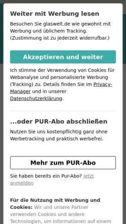 Vorschau der mobilen Webseite www.glaswelt-net.de, glaswelt.net
