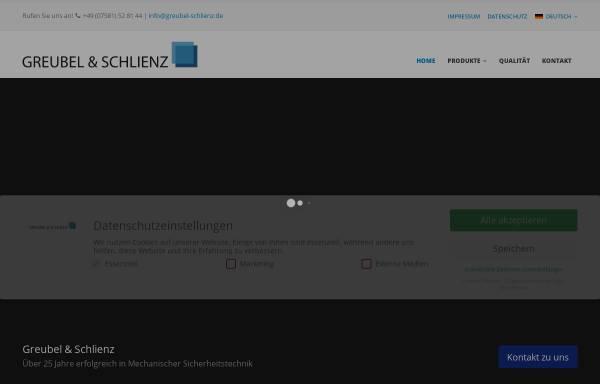 Vorschau von www.greubel-schlienz.de, Greubel und Schlienz GmbH