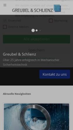 Vorschau der mobilen Webseite www.greubel-schlienz.de, Greubel und Schlienz GmbH