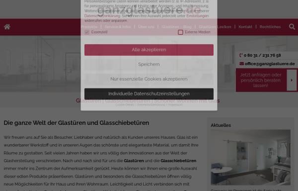 Vorschau von www.ganzglastuere.de, Pirchmoser & Muck GbR