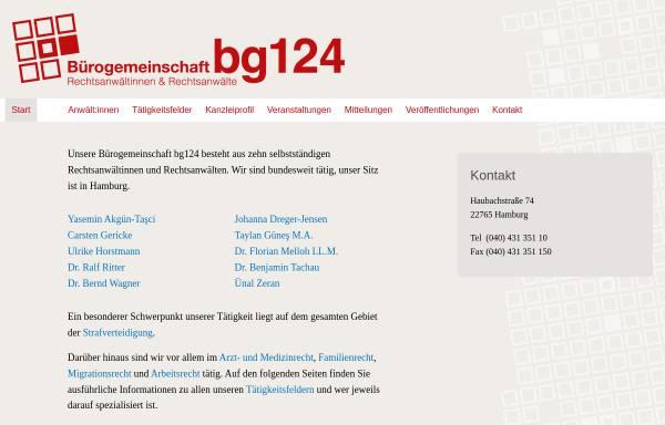 Vorschau von www.bg124.de, Bürogemeinschaft Schulterblatt 124