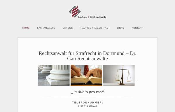 Vorschau von drgau.de, Rechtsanwalt Dr. Gau