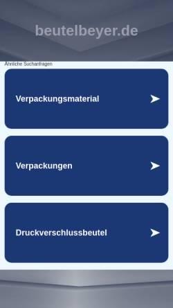 Vorschau der mobilen Webseite www.beutelbeyer.de, Beutel Beyer, Inh. Gerhard Beyer