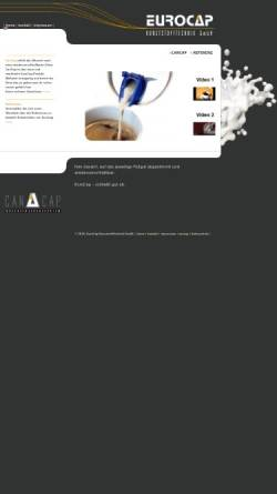 Vorschau der mobilen Webseite www.euro-cap.de, Euro-Cap Kunststofftechnik GmbH