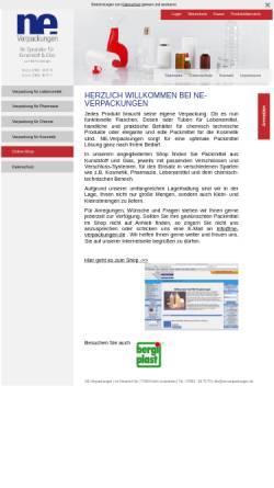 Vorschau der mobilen Webseite www.ne-verpackungen.com, Ne-Verpackungen, Inh. N. Maier Heidt