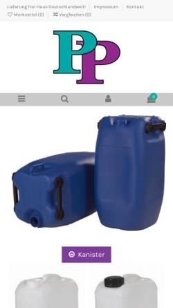Vorschau der mobilen Webseite www.paulpeter-shop.de, Paul Peter Kunststoffprodukte