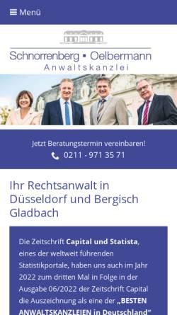 Vorschau der mobilen Webseite www.dr-schnorrenberg.de, Dr. Schnorrenberg