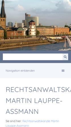 Vorschau der mobilen Webseite lauppe-assmann.de, Rechtsanwalt Martin Lauppe-Assmann