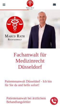 Vorschau der mobilen Webseite www.rath-kanzlei.de, Marco Rath, Rechtsanwalt