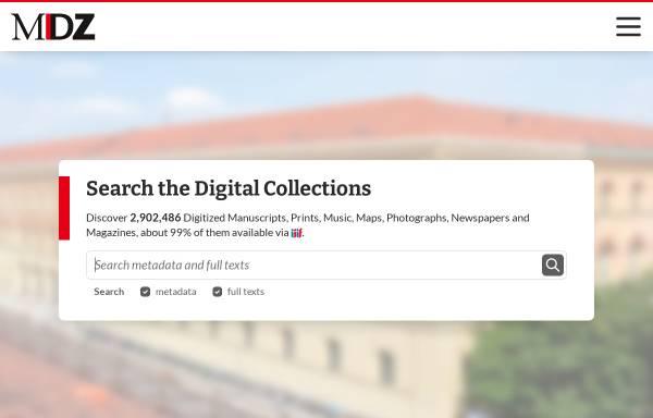 Vorschau von www.digitale-sammlungen.de, Digitale Bibliothek - Münchener Digitalisierungszentrum