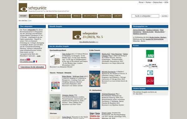 Vorschau von www.sehepunkte.de, Sehepunkte - Rezensionen