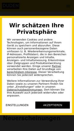 Vorschau der mobilen Webseite www.duden.de, Duden