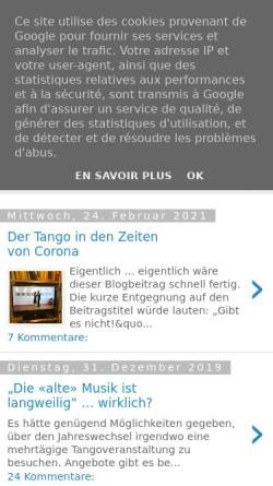 Vorschau der mobilen Webseite tangoplauderei.blogspot.com, Eine Plauderei über den Tango Argentino