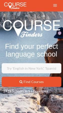 Vorschau der mobilen Webseite www.coursefinders.com, ICF Internet Course Finders AG