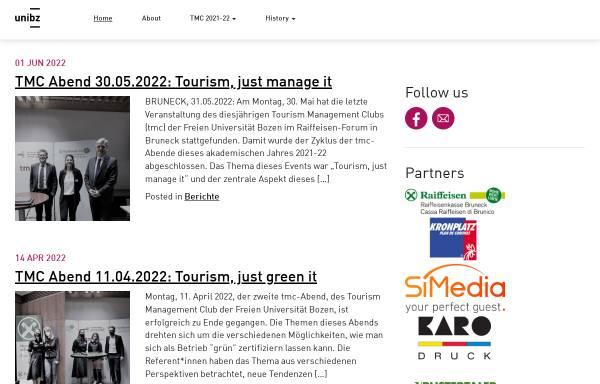 Vorschau von tmc.suedtirol.org, Tourismus Management Club (TMC)