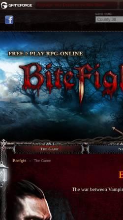 Vorschau der mobilen Webseite bitefight.gameforge.com, Bitefight