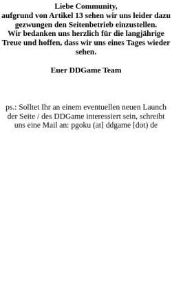 Vorschau der mobilen Webseite www.drafdbzr12.de, DDGame