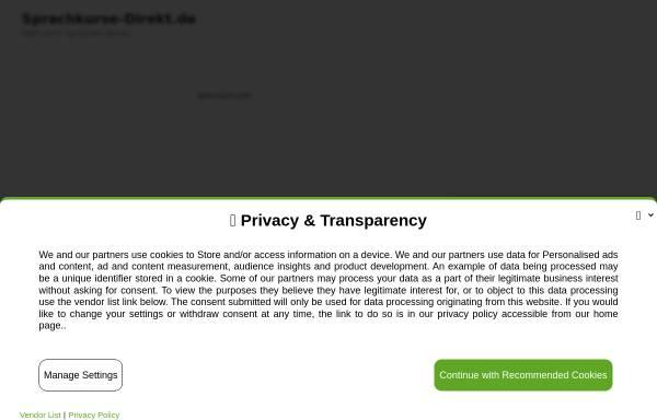 Vorschau von www.sprachkurse-direkt.de, Sprachkurse-Direkt.de