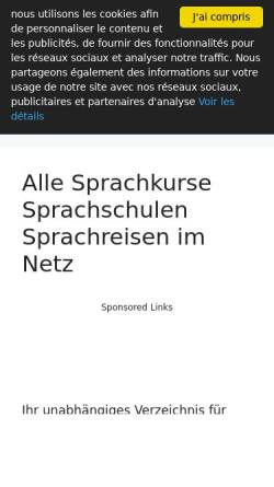 Vorschau der mobilen Webseite www.sprachkurse-direkt.de, Sprachkurse-Direkt.de
