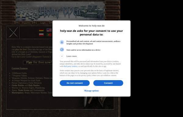 Vorschau von www.holy-war.de, Holy War