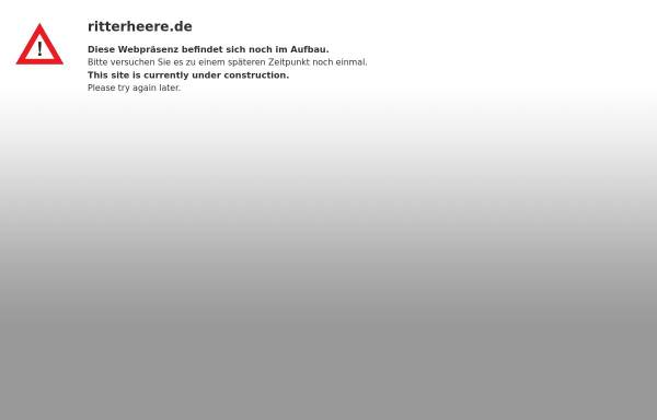 Vorschau von ritterheere.de, Ritterheere